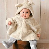 1pcs/lot,Baby Polar Fleece Cloak,Thickening cotton-padded Bear cloak,Baby autumn winter Jacket,Newborn Child Clothing,Kids Cape