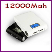Wholesale 12000Mah Portable mobile Power  charger external battery for iphone Samsung psp LG (HK-Fedex Free shipping)
