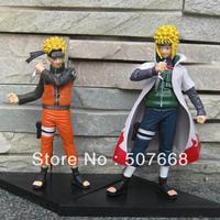 Naruto Uzumaki Naruto PVC Action figure Toys Birthday gift Ser of 2 Free Shipping Retail