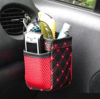 Free Shipping Car Storage Bag, 2color 2pcs/lot Cell Phone holder, hot sale Car Outlet Sundry Storage Pocket