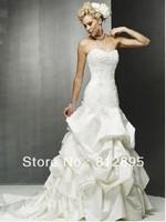 High Quality!   White Ball Gown Wedding Dresses Wedding Attire Dresses Pageant Dress Custom Made Size 2-10 12-20 JLW923334
