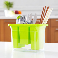 High quality thickening water plastic tableware storage box fashion chopsticks tube kitchen utensils shelf 270g