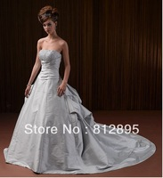 High Quality!   Silver Ball Gown Wedding Dresses Wedding Attire Dresses Pageant Dress Custom Made Size 2-10 12-20 JLW923340