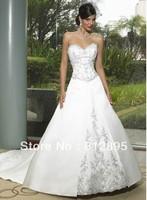 High Quality!   White Ball Gown Wedding Dresses Wedding Attire Dresses Pageant Dress Custom Made Size 2-10 12-20 JLW923343