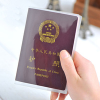 Brief waterproof passport cover transparent protective case documents pvc soft card case 20g