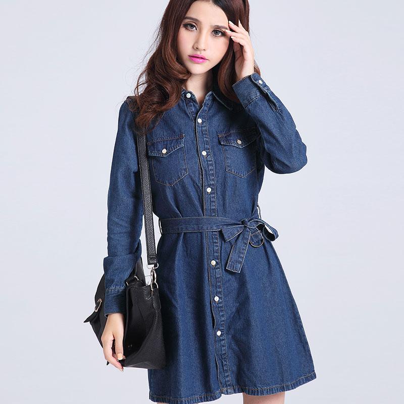 Trench Coat Dress Sleeve Plus Size Casual Dresses Denim Trench Coat Women Outerwear Jpg Lees
