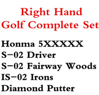 13PCS 5X Beres S-02 Golf Complete Set Driver 9loft Fairway Woods IS-02 Irons Graphite R Shafts With Golf Clubs Headcovers HONMA