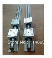 2 pcs SBR20 L = 900mm Linear Rail support 20mm linear shaft + 4 pcs SBR20UU straight-line motion block for  Ball screw