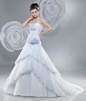 High Quality!   Blue Ball Gown Wedding Dresses Wedding Attire Dresses Pageant Dress Custom Made Size 2-10 12-20 JLW923351