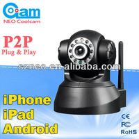 P2P WIFI two way audio Wireless PT IP Wifi CCTV Security camera de ip Network IR Night Vision wireless ip camera