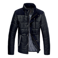 Free Shipping Winter male patchwork wadded jacket plus size f393 p115