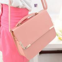 women's fashion work handbag ladies brief candy color PU bag women vintage messenger bags handbags briefcase