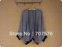 original order export Europe and the U.S big tail goods silk cashmere striped wool ladies knitted cardigan outside the shawl
