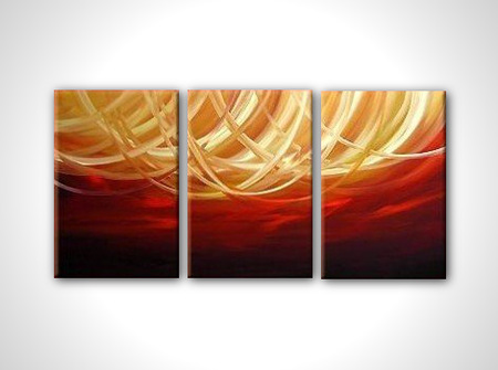 Discount abstract 3 panel canvas art oil painting framed wall art