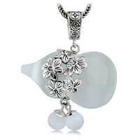Collage 925 pure silver jewelry vintage thai silver - eye petals gourd pendant women's lucky ruyi