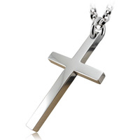 Collage 925 pure silver jewelry vintage thai silver glossy paintless jesus cross necklace pendant male