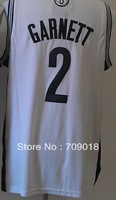 Free Shipping High quality The NEWEST New Jersey 2 GARNETT basketball jersey Mesh and Embroidered White color