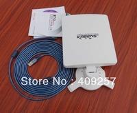 ..Fedex Free shipping,, USB Adaptador Wifi USB PC Kasens N5200 6000MW + Antena 80dbi 802.11b/g/n panel Antenna 5Meters cable