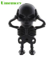 Retail real capactiy 4G 8G 16G 32G Cartoon Skeleton skull Shape Pen Drive USB Flash Drive Pendrive Memory Stick Freeshipping