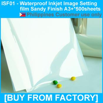 Inkjet Printing Film Waterproof  Sandy Finish  A3+*500Sheets