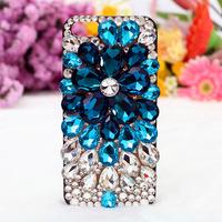 Luxury crystal diamond mobile phone shell colored gem diamond paste Beauty