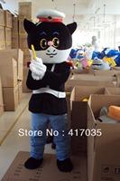 1Pcs Free Shipping to Black sergeant cartoon costume Cartoon Doll clothing walking cartoon dolls cartoon clothing clothes
