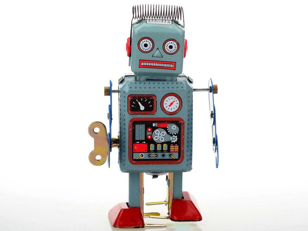 1PC Vintage Wind Up Walking Radar Robot Tin Algam Toy Gift mechanical clockwork[CWYE0204](China (Mainland))