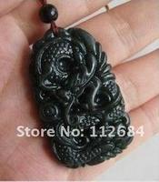 Hetian jade black gray jade dragon longteng heyday, apprentice dragon pearl pendant