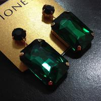 Free Shipping Fashion Cute 18K Gold Plated Acrylic Square Stud Earrings High Quality Fashion Earrings