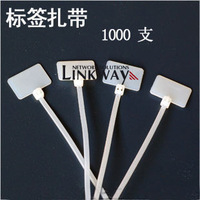 1000 tag ties label with nylon cable ties signs ties ethernet cable label waterproof label cable ties