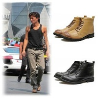 2013 trend casual martin brockden carved fashion genuine leather boots