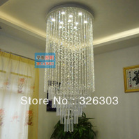 Lamps crystal column chandelier penthouse villa chandelier lamp living room lamp stair lights hotel project