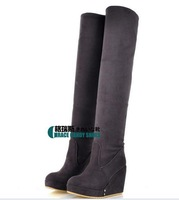Simple Suede Wedge Heel Over The Knee Boots for Women,Party/Evening Boots-Over Knee (More Colors)