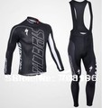 Free Shipping Winter Long Fleece Bike Bicycle Clothing Team Cycling Long Sleeve Jersey+Bib Pants Man's Riding Suit