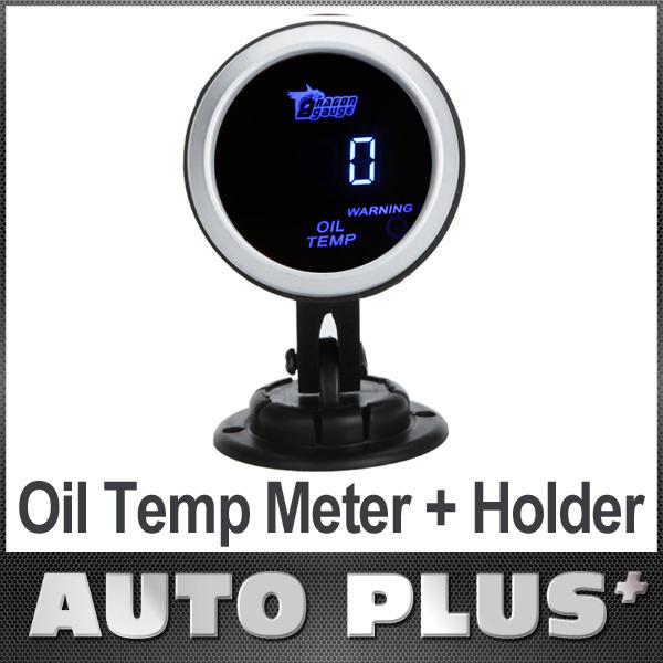 carro óleo digital temperatura temp medidor auto calibre sensor lcd 52mm 2in 0~150 celsius degree+ medidor de bitola pod titular copo de montagem(China (Mainland))