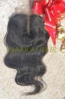 "8""-20"" brazilian body wave lace closure 100% unprocessed human hair natural color"