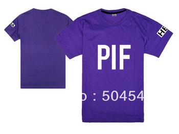 Fashion men's summer tees HBA PIF logo o-neck short sleeve shirt casual t-shirt 9 color available