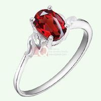 LQ Fine Jewelry Fashion Natural Garnet Ring Sterling Silver 925 Rings for Women White Gold Plated Angel's love with Certificate