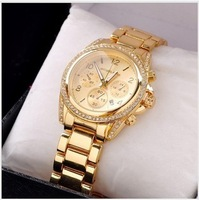 Luxurious Japan Movement Brand Quartz Watch Women Men Fashion Rhinestone Dress Wristwatch