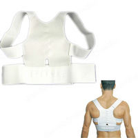 D19New Magnetic Posture Support Corrector Back Pain Feel Young Brace Shoulder Belt 3 size