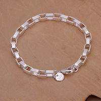 Free Shipping Wholesale Sterling 925 silver bracelet, 925 silver fashion jewelry Big Rectangular Bracelet SMTH203