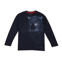 Spring and autumn 100% cotton letter print o-neck child long-sleeve T-shirt male child t-shirt
