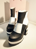 2 Colors ! 2013 New Arrival Quality Black Ankle Boots 10cm High Heels Fashion Women Booties