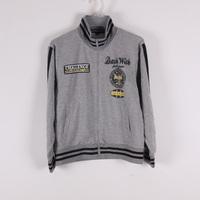 Spring and autumn strip stand collar medium-large male child zipper-up sweatshirt 120 - 160