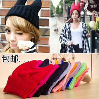 FREE SHIPPING Small little demon cat ears knitted hat horn hat knitted hat