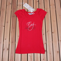 100% cotton slim women's o-neck short-sleeve t-shirt