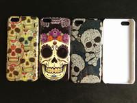 Free Shipping 10pcs/lot Wholesale Skull Skeleton Beard Colorful Stripe Animal Phone Case Cover For Apple Iphone 5C Defender Skin