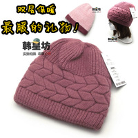 FREE SHIPPING Quality rabbit wool knitted winter hat knitted hat thickening cap the elderly hat millinery