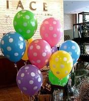differenct color balloon polka dot/polka dots balloons/ballons latex wedding decoration balloon free shipping