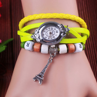 Neon color vintage table fashion watch lovers tower bracelet watch women's bracelet watch student table